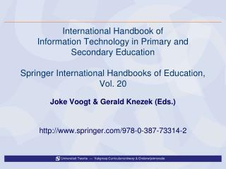International Handbook of  Information Technology in Primary and Secondary Education  Springer International Handbooks o