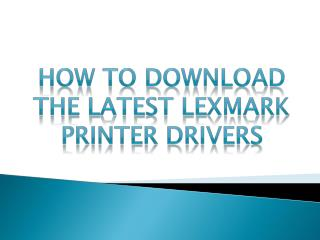 How to install the Lexmark Laser Printer Driver