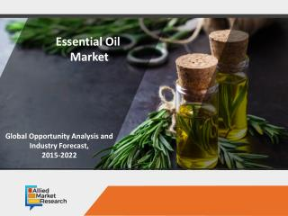Essential Oil Market to have a Notable Growth by 2022