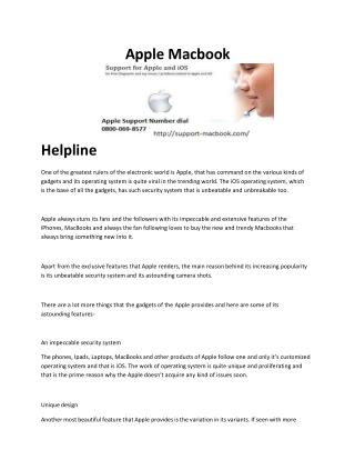 Apple Support Number UK
