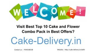 Which website to order for cake and flowers of Vanilla flavors in the best offers?