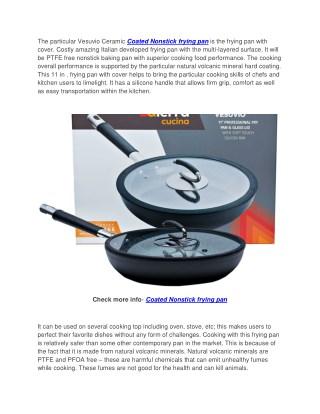 Vesuvio Ceramic Coated Nonstick Frying Pan, 11 Inch