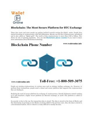 Blockchain Phone Number