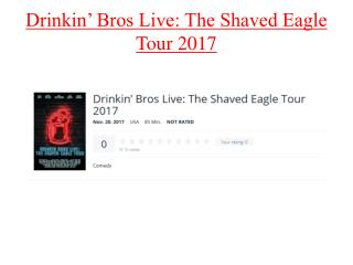 The Shaved Eagle Tour 2017 By Subscene