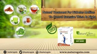 Natural Treatment for Diabetes Mellitus to Control Excessive Thirst at Night