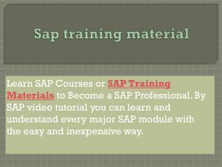 Sap training material for all