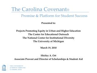 The Carolina Covenant