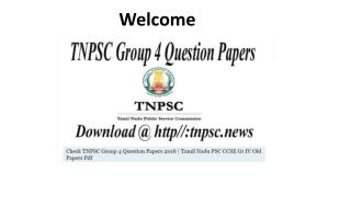 Download TNPSC Group 4 Previous Year Papers 2018 @ tnpsc.gov.in