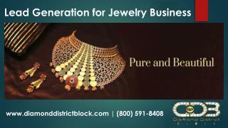 Lead generation for Handmade Jewelry