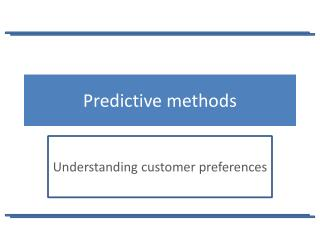Predictive methods