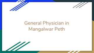 General Physicians in Mangalwar Peth, Pune