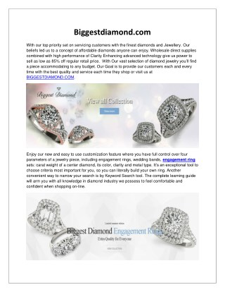 Biggestdiamond.com: Diamond Engagement Rings For Women USA