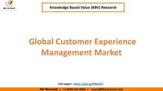 Global Customer Experience Management Market