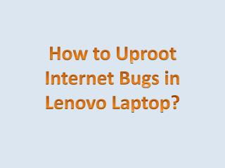 How to Uproot Internet Bugs in Lenovo Laptop?