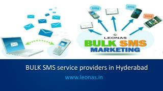 Bulk sms marketing services in Hyderabad