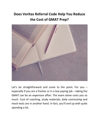 Does Veritas Referral Code Help You Reduce the Cost of GMAT Prep?