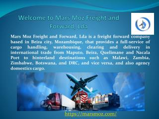 Freight Forwarding Services in Beira, Mozambique