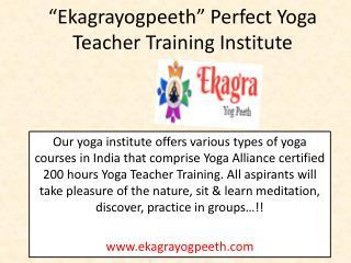 Perfect 200 Hour Yoga Teacher Training Institute