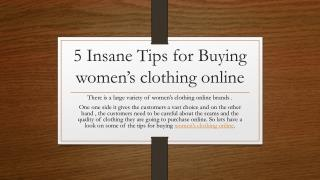 5 Insane Tips for Buying women's clothing online