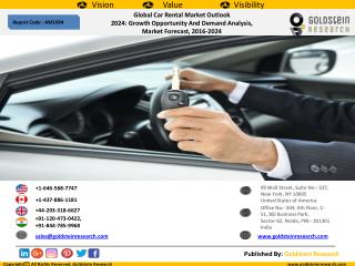 Global Car Rental Market Outlook  2024: Growth Opportunity And Demand Analysis,  Market Forecast, 2016-2024