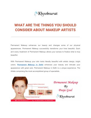 WHAT ARE THE THINGS YOU SHOULD CONSIDER ABOUT MAKEUP ARTISTS