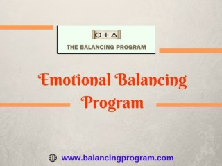 Emotional Balancing Program-Improve mental potential