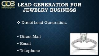 Lead generation for jewelry business