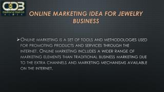 Online Marketing Idea For Jewelry Business