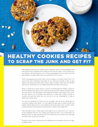 Healthy Easy Cookies