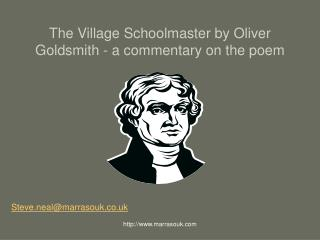 The Village Schoolmaster by Oliver Goldsmith - a commentary on the poem