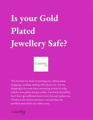 Is your Gold Plated Jewellery Safe?