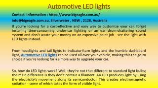 Some Interesting Facts You Need To Know About LED Lights In Car