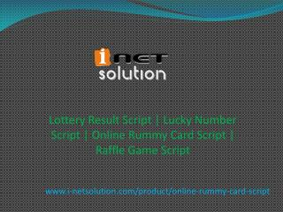 Lottery Result Script | Lucky Number Script