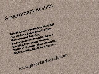 goverment results.
