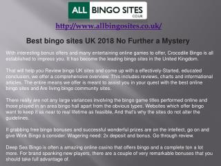 Best bingo sites UK 2018 No Further a Mystery