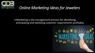 Online Marketing Ideas for Jewelers