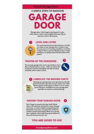 Steps to maintain Garage door|Garage Door Service North Hollywood CA|Garage Door Repair