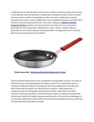 Tramontina 80114/534DS Professional Aluminum Nonstick Restaurant Fry Pan