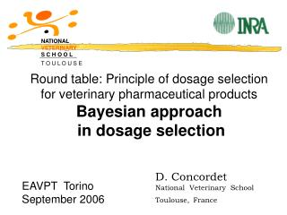 Round table: Principle of dosage selection for veterinary pharmaceutical products Bayesian approach  in dosage selection