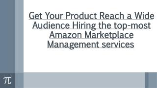 Various Benefits of Amazon Marketplace Management services