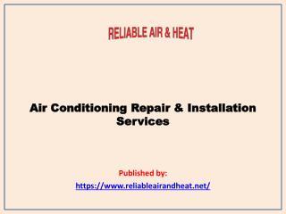 Air Conditioning Repair & Installation Services