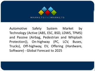 Rise in the Demand for A Safe, Efficient, and Convenient Driving Experience to trigger automotive safety system market
