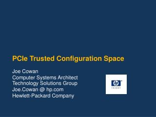 PCIe Trusted Configuration Space