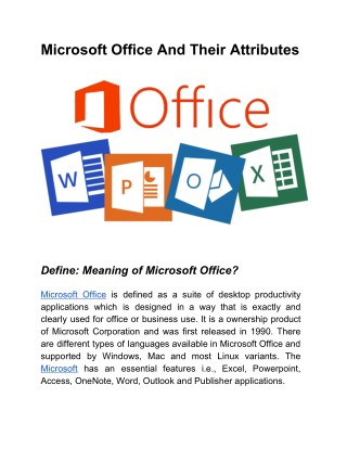 Microsoft Office and Their Attributes