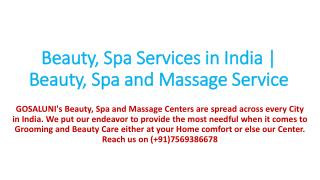 Beauty services at home in Hyderabad | Best spa center in India