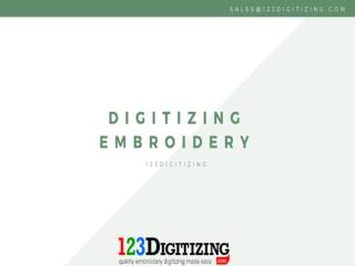 Digitizing Embroidery- Better Service At Affordable Rate