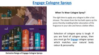 How To Wear Engage Cologne Spray