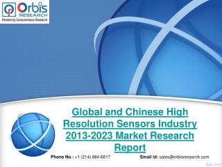 Market Research Report on Global High Resolution Sensors Market -2023
