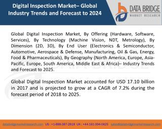 Global Digital Inspection Market– Industry Trends and Forecast to 2025