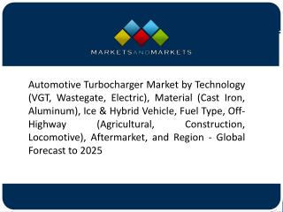 Growing Demand for Commercial Vehicles to Drive the Market for Turbochargers